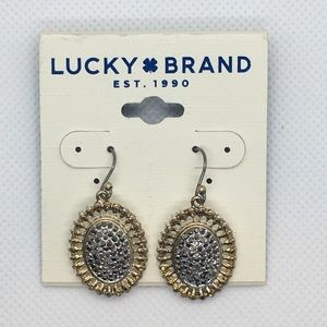 Lucky Brand Pave Drop Earrings